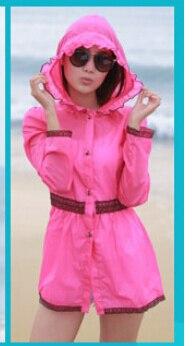 5 шт./лот женские ярких цветов одежда для защиты от солнца ультра-тонкий верхняя одежда ярких цветов повседневные пляжные толстовки - Цвет: rose red