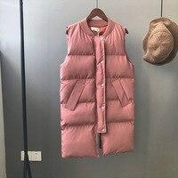 mh2b 2018 winter new women's cotton suit Korean women's winter coat vest long section M63240 cherry