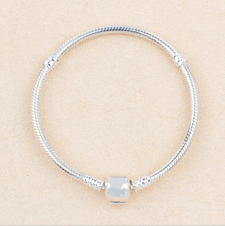 2018 Classic Hot sell Real 100% 925 Sterling Silver Snake Chain Basic Bracelet Fit Original Charm Bracelet Bangle DIY Jewellery 2016 hot sell classic 100