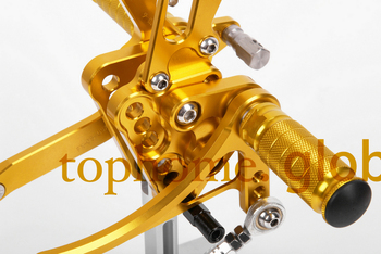 Free Shipping Motorcycle Golden CNC Rearsets Foot Pegs Rear Set For Suzuki GSXR1000 2005-2006 motorcycle foot pegs