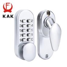 KAK Zinc Alloy Keyless Combination Mechanical Digital Door Lock No Power Push Button Code Locks For Home Furniture Hardware