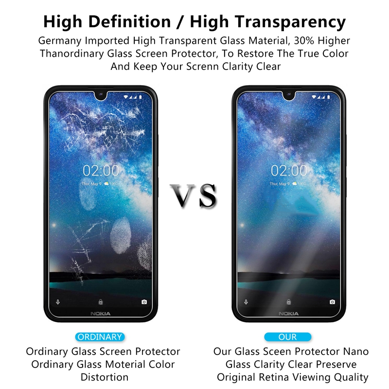 Image 2 - Screen Protector For Nokia 2.2 Glass 9H Hardness Tempered Glass For Nokia 2.2 Phone Glass For Nokia 2.2 2019 Protective Film-in Phone Screen Protectors from Cellphones & Telecommunications