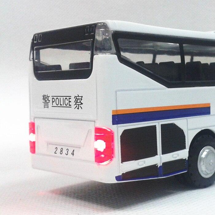 Alloy ljus stor polisbuss dörren leksak bil modell voiture juguete - Bilar och fordon - Foto 5