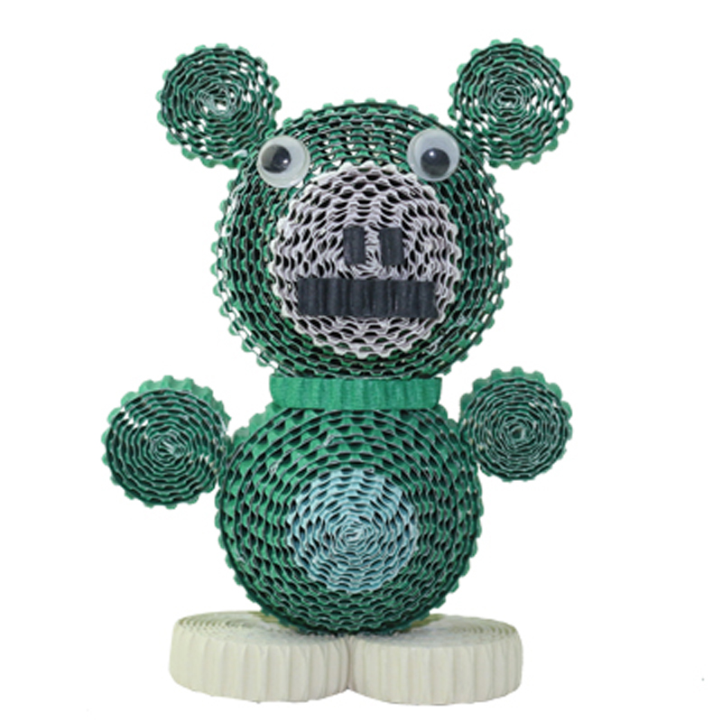 Educational Toy 3d Green Bears Paper Craft Quilling Diy Kids Like