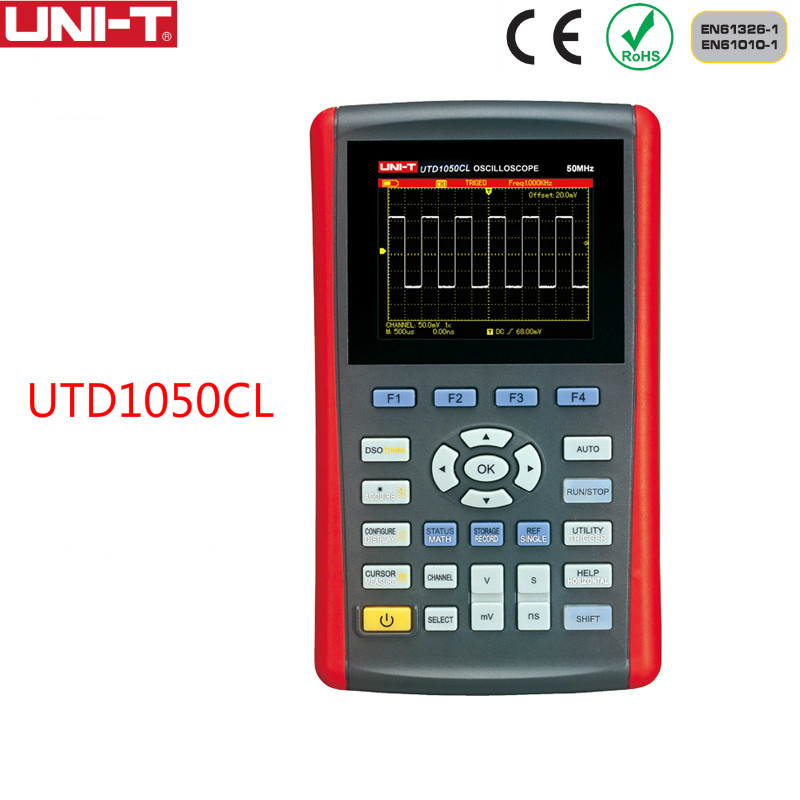 UNI-T UTD1025CL 3.5 Scopemeter Handheld Digital Color LCD Storage 25MHz Mini USB Oscilloscopes 1CH 25MHZ Scope meter