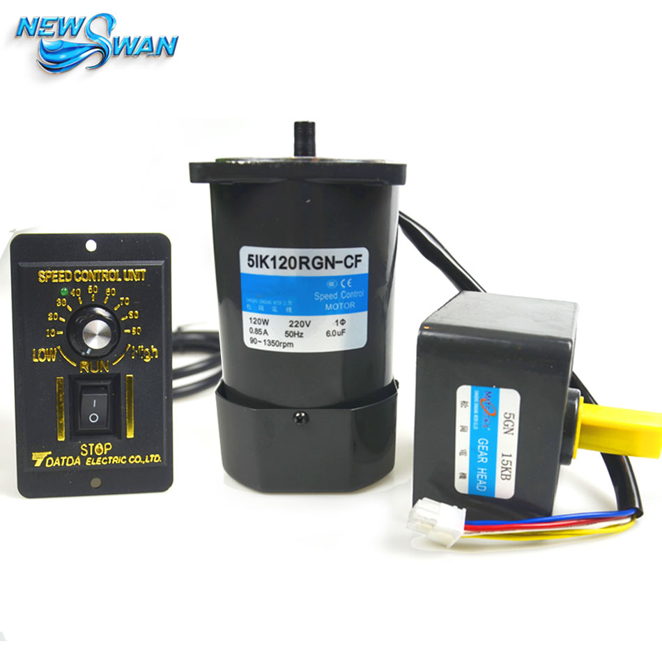 51K120RGN CF 120W AC Gear Reducer Motor Speed regulating motor 1 PH 50 HZ AC 220V