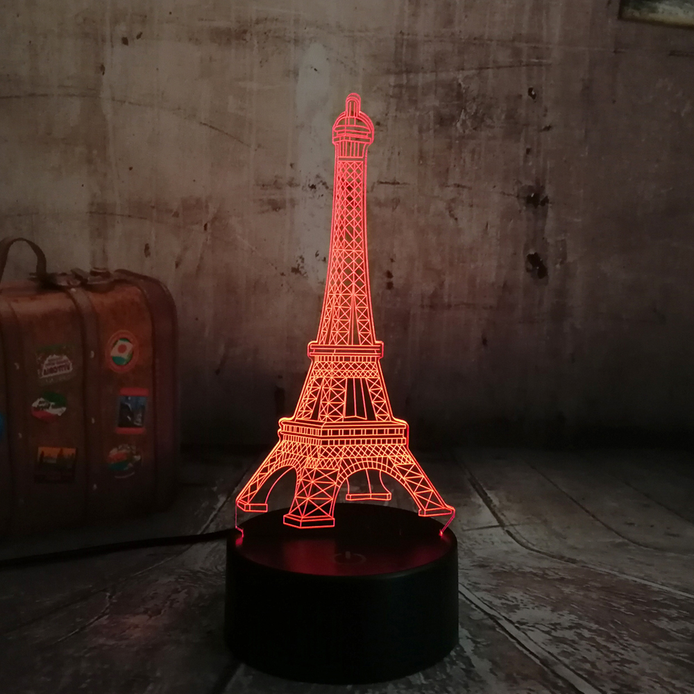 Led Night Lights Adeeing Colorful Romantic Eiffel Tower Led Night Light Desk Wedding Valentines Day Bedroom Decorate Lamp Child Gift Zk30 Led Lamps