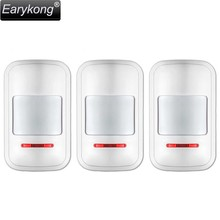Hot Selling PIR Motion Detector 3 pieces include Big Promotions For Home Burglar Alarm System GSM Alarm System, Earykong Brand