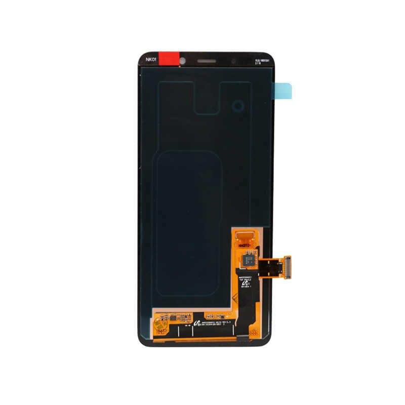 لسامسونج غالاكسي A8 زائد 2018 A730 شاشة الكريستال السائل مجموعة المحولات الرقمية لشاشة تعمل بلمس استبدال + أدوات 100% اختبار العامل