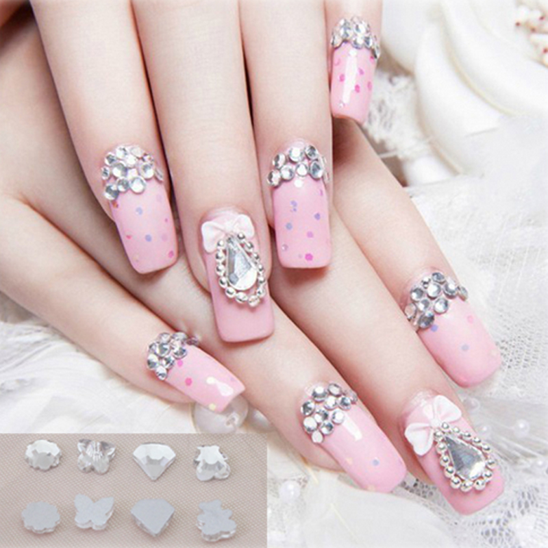 Famous 3d Diamond Nails Ensign - Nail Art Ideas - morihati.com