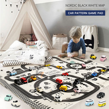 Fast logistics North European Style Kids Car City Scene Taffic Highway Map Play Mat Educational Toys For Children Gym Games Road