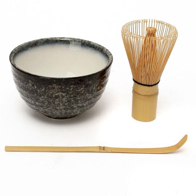 3in1 Tea Ceremony Matcha Ceramic Tea Bowl Bamboo Tea Scoop Matcha Whisk Japanese Teaware Tea Tool 5 Style Matcha Bowl Set