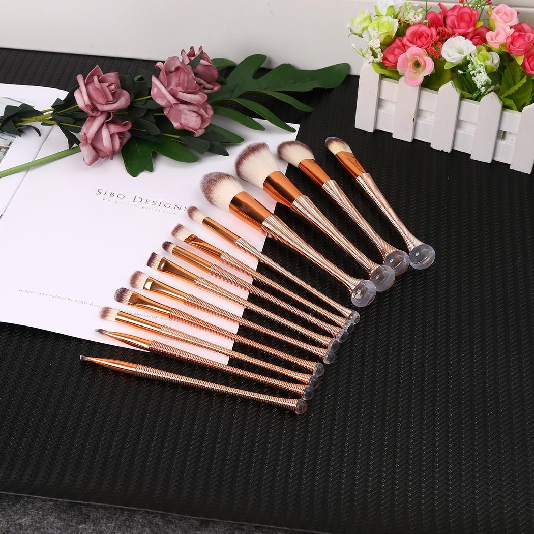 Набор шт кожи золото макияж профессиональный комплект Rose Тип в комплект все 145 г Макияж Мягкий 13 Роскошные шт Кисть косметическая цвет