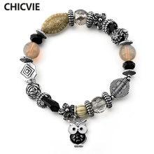 Chicvie браслеты дружбы с черной совой и цветком на заказ Подвески