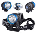 SingFire SF-90 CREE XML T6 800lm White 4-Mode Crown Head Bicycle Headlamp - Grey+ Blue (4x18650)
