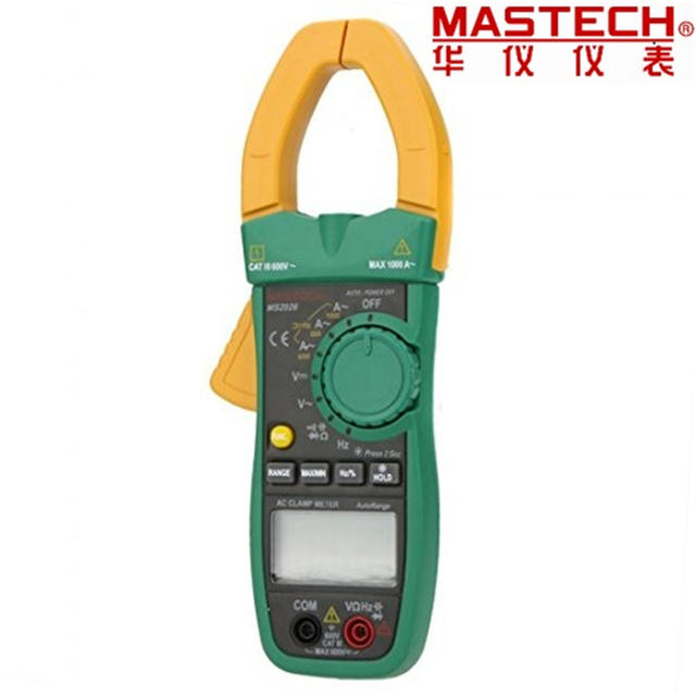 MASTECH MS2026 Digital AC Current Clamp Meter Auto Range Ammeter Voltmeter Ohmmeter w/ Capacitance & Frequency Test