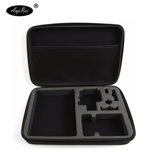 ANJIRUI 防水収納キャリングバッグ旅行移動プロヒーロー 3 セッション 4/4/3 +/3/ 2/1/XiaomiYi アクションカメラケースアクセサリー