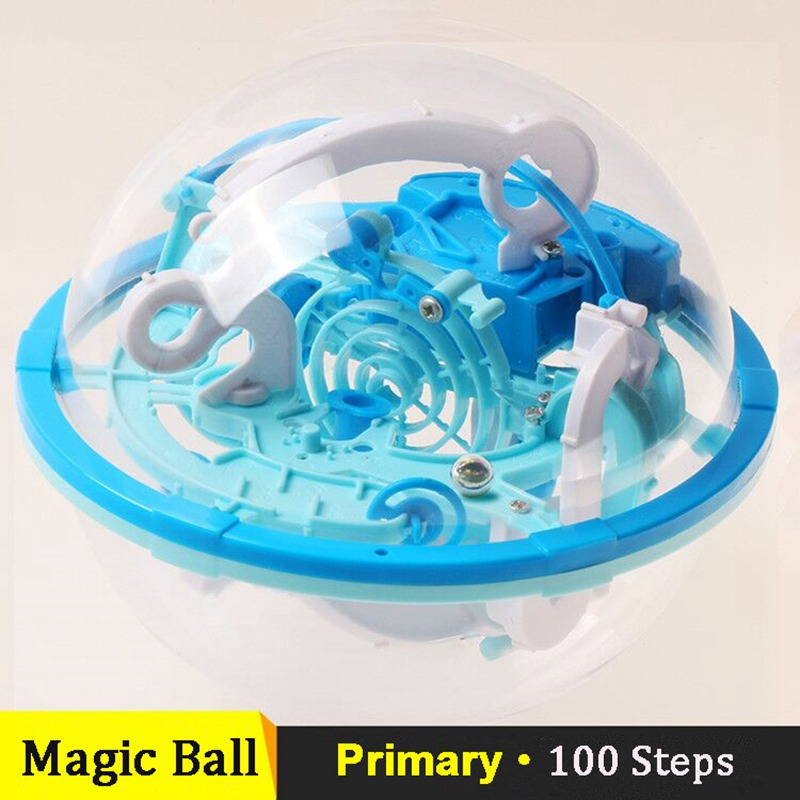 Puzzle Magic Cube Ball Small Size 3D Labyrinth Magic Jigsaw Intellect Ball Marble Puzzle Teaser Perplexus