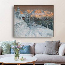 Snow Scenery Alois Arnegger Canvas Painting Calligraphy Poster Prints Living Room House Wall Decor Art Home Decoration Picture