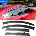 Carro Stylingg Toldos Abrigos 4 pçs/lote Viseiras Da Janela Para Mazda Axela Sedan 2014-2016 Sol Chuva Escudo Adesivos Covers