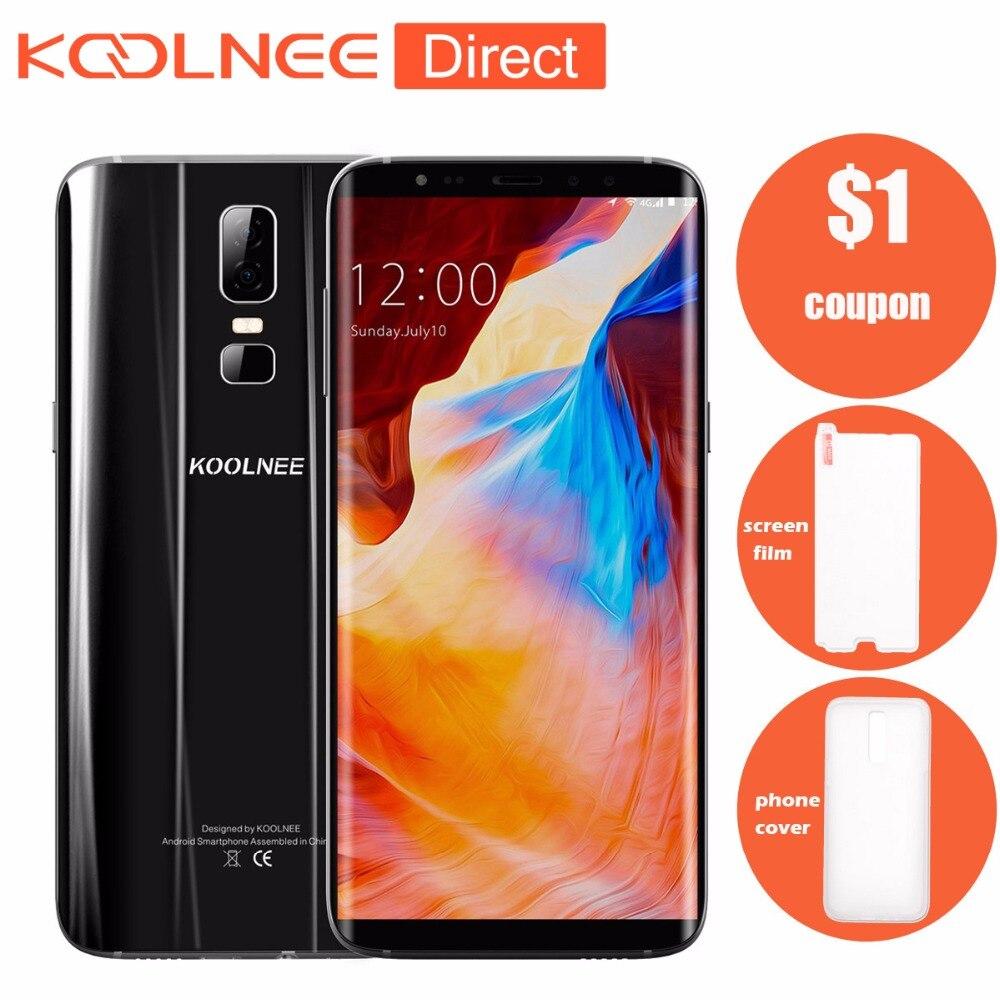 New Koolnee K1 Unlocked Mobile Phone Android MTK6750T Octa-Core 6.01 4GB RAM 64GB ROM 1080x2160 pixels 4G LTE Smartphone