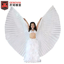 Belly Dance Isis Wings for Girls Cosplay Costumes Carnival Halloween Children Dance Wear Props White Belly Dance Wings and Stick(China)