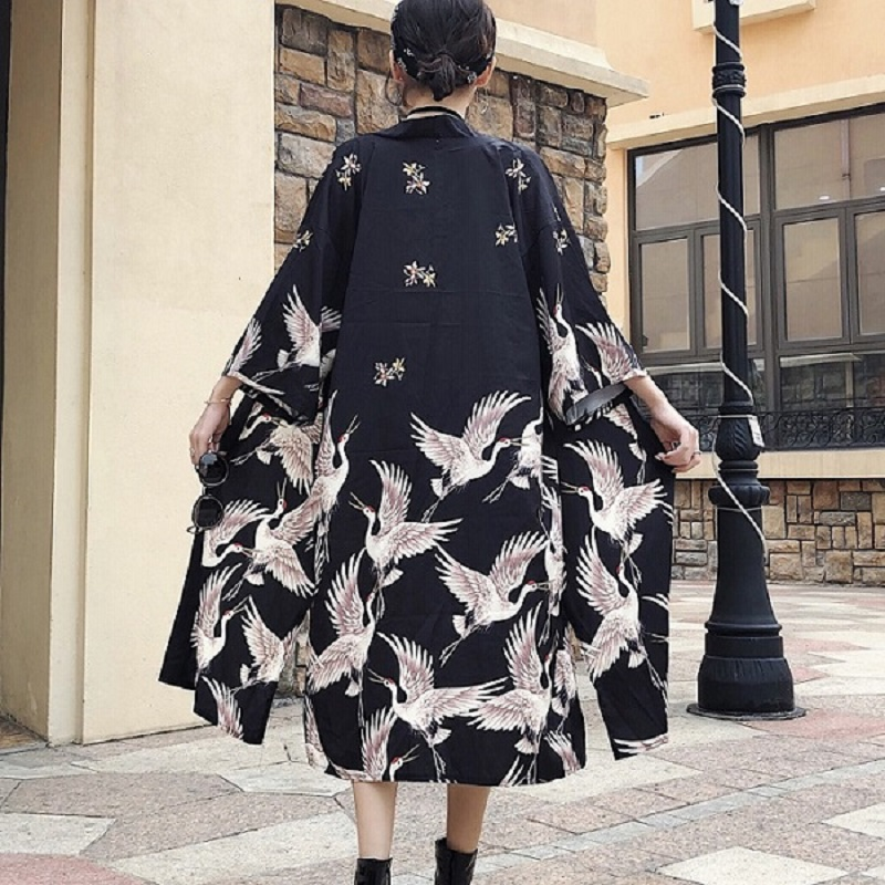 Back To Search Resultswomen's Clothing Forceful Japanese Harajuku Vintage Female Oversized Tops Shirts Street Fashion Bandage Blouse Japanese Yukata Female Long Blouse Kz626