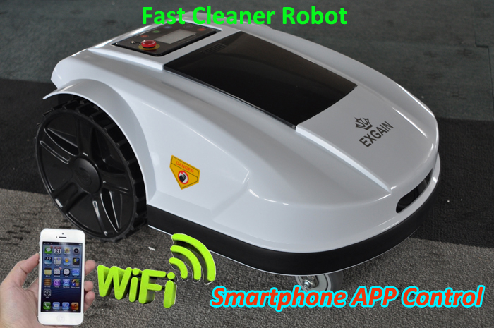 Top Grade Newest Arrival Automatic Robot Lawn Garden Mower which can be easy Setting by your Smartphone,Language option
