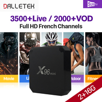 French Arabic IPTV Box SUBTV Code 3500 Channels 2GB 16GB X96 Mini S905W Android 7 1