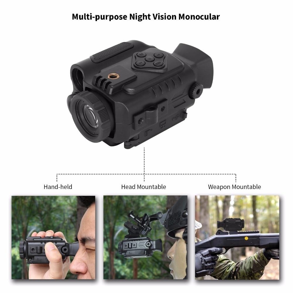 Hot Outdoor Hunting Optics Monocular Tactical Digital Infrared Night Lampu Senter Kecil 9 Led Sj0020 Multi Funtional Malam Visi 850nm 200 M Lingkup Inframerah Riflescope Auto Ir Helm Liar