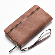 Baellerry Wallet Men Leather Large Capacity Wallets Male Cash Coin Pocket Card Holders Famous Brand Money Purse Men Fashion New