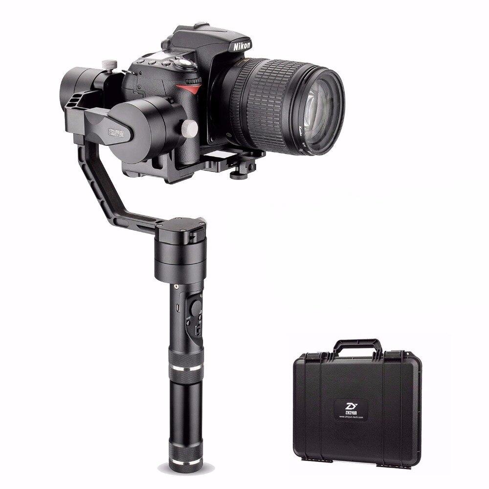 Zhiyun Tecnologia Guindaste V2 3-Axis Bluetooth Handheld Cardan Estabilizador para Câmeras Mirrorless ILC Inclui Estojo Rígido
