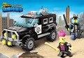 190 unids serie city swat policía car building block sets enlighten niños ladrillos educativos juguetes compatible con legoe