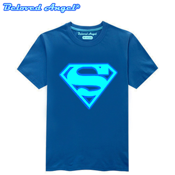 Children Clothing T-Shirt For Boys Fashion T Shirt Teen Girl Luminous Cotton Tops Teenage Boy Glow In Dark Kids Clothes Tshirts 1