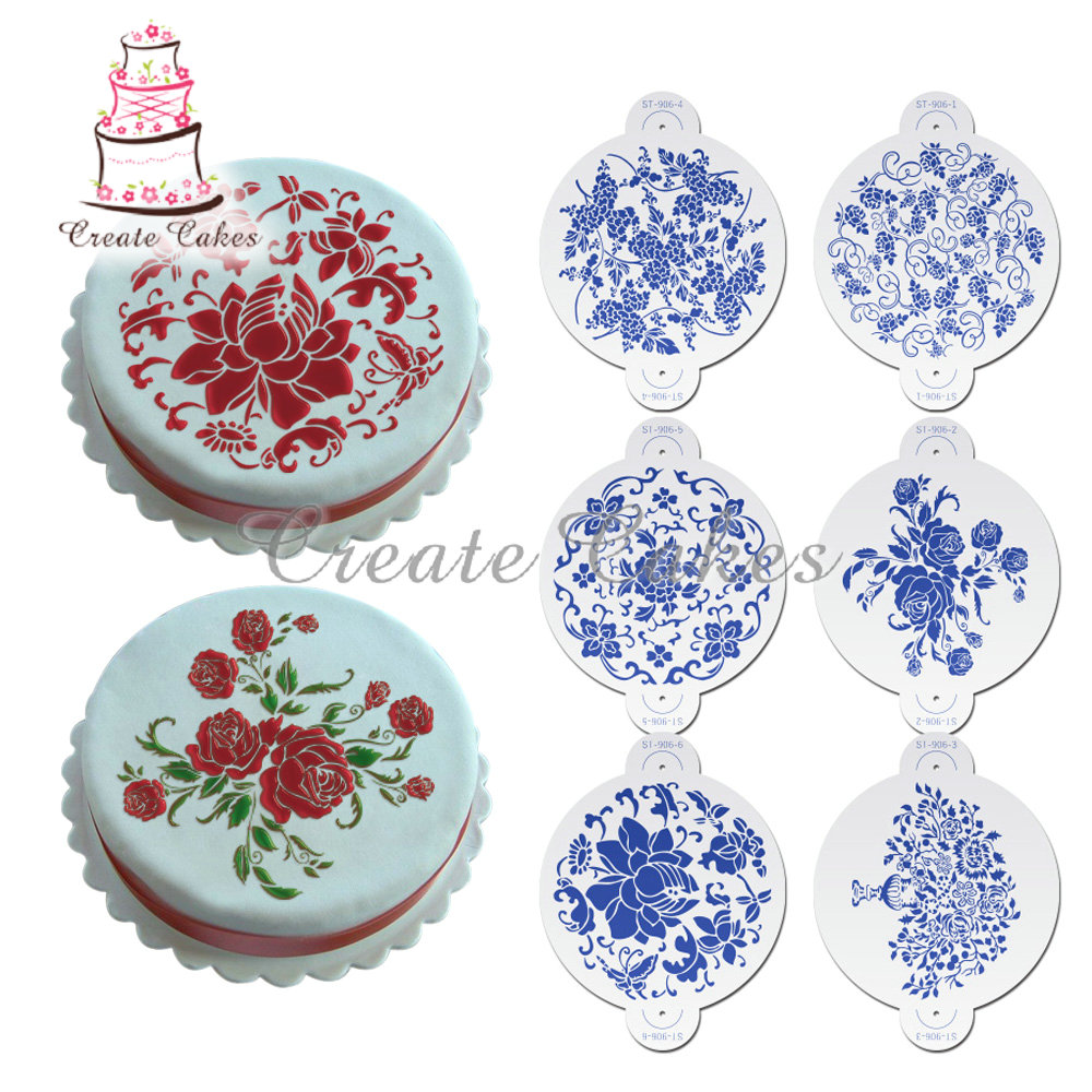 Cake Decorating Flower Templates : Online Get Cheap Flower Stencils -Aliexpress.com Alibaba ...
