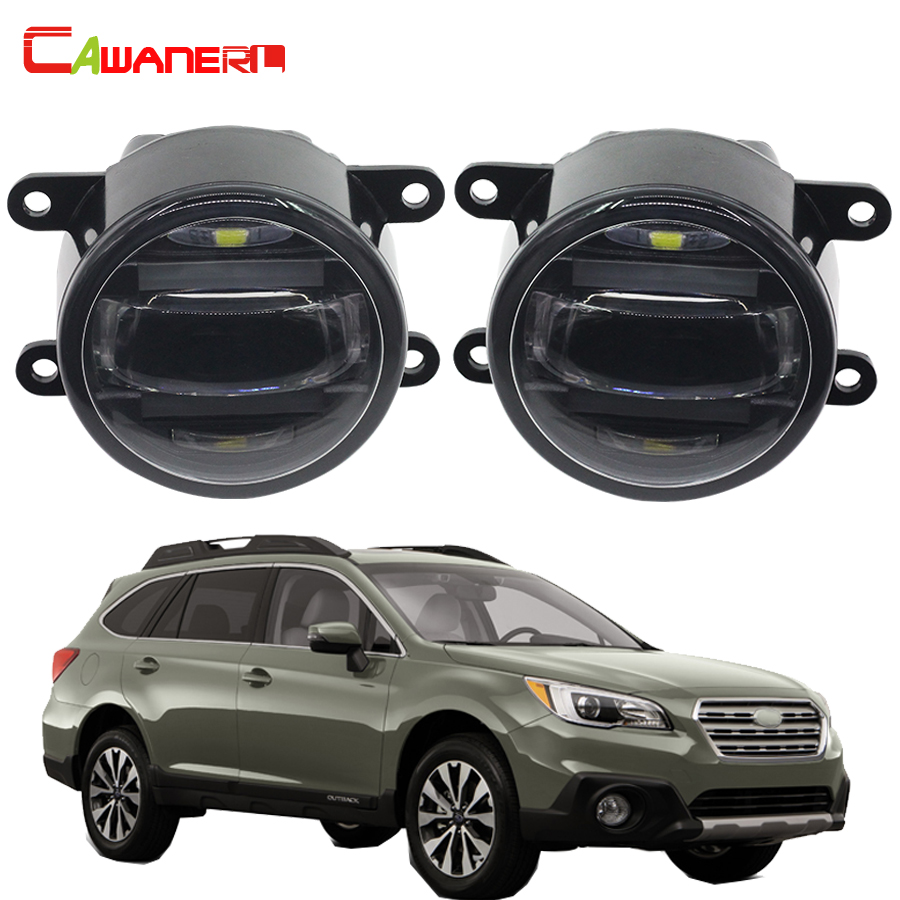 Cawanerl For Subaru Outback Legacy Car Accessories Right + Left Fog Light  LED Daytime Running Lamp DRL 1 Pair