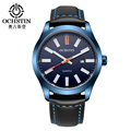 Ochstin Fashion Casual Watch Men Analog Watch Waterproof Quartz Men's Watch Leather Band Reloj Hombre Vintage Dress Watch Men