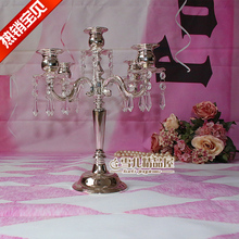 The new European high-grade crystal Pendant Silver five head three holder wedding gift decoration New House Hotel