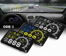 5.5″ Large Screen Auto Car HUD Head Up Display KM/h MPH Overspeed Warning Windshield Projector Alarm System OBD 2 Port CY114-CN