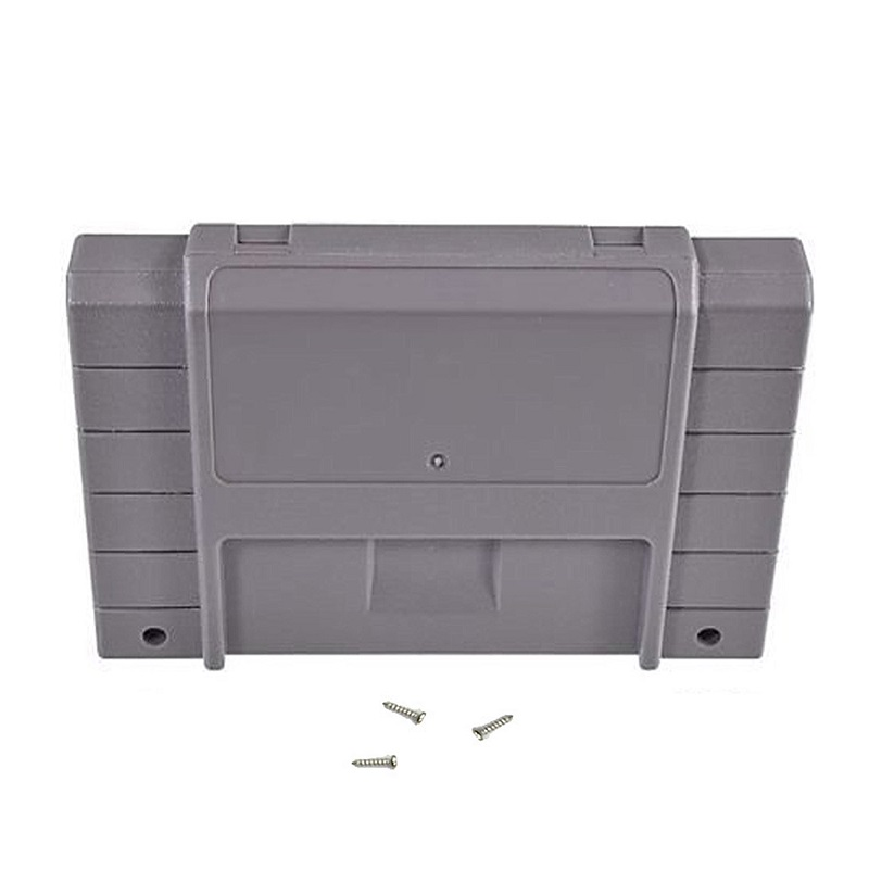 H 100pcs Cartridge Case Shell with display protector sleeve or inner tray for Super SNES Systems