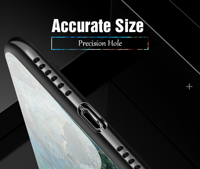 TOMKAS Luxury Marble Phone Case for iPhone X 10 Tempered Glass PC Agate Back Cover Silicone Soft Edge Coque Case for iPhone X (18)