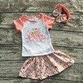 Muchachas de los niños trajes de verano con faldas niños maravilla ropa niñas boutiques sets con mathcing diadema