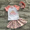 girls children summer outfits top with skirts children just lovely clothing girls boutiques sets with mathcing headband