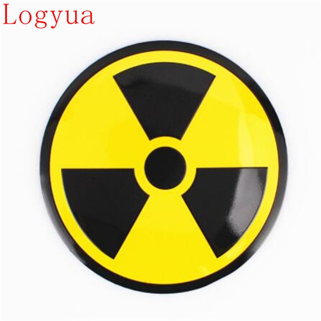 car styling 56 5mm nuclear bomb weapon sign logo style aluminum car