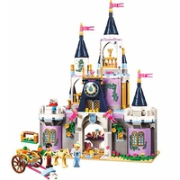 Friends Fairy Tale Princess Cinderella's Dream Castle Building Blocks Bricks Kids Classic Girl Model Toys Compatible Legoings