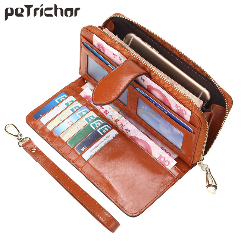 Hot Selling Many Departments Women Wallet High Quality Wristlet Clutch Wallet Female Card Holder Leather Ladies Long Purses 1