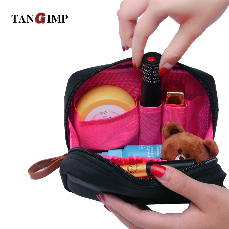 TANGIMP Cosmetic Bags Travel Organizer Waterproof Makeup Cases Pouch Beauty Brushes Lipstick Toiletry Accessories Supplies selters вода минеральная газированная 0 5 л