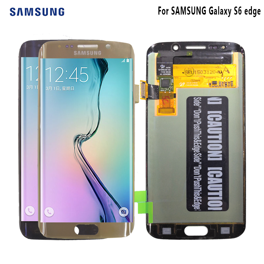 AMOLED Display For SAMSUNG Galaxy S6 edge LCD Display G925 G925I G925F Touch Screen Digitizer Phone