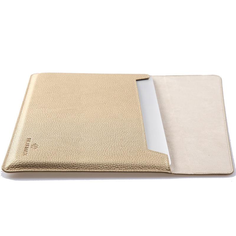 Prix pour Gearmax 11 12 13 15 pouce laptop sleeve pour macbook Air/Pro Étanche PU Ordinateur Portable en cuir Sac 13 + Livraison Couvercle Du Clavier D'ordinateur Portable cas