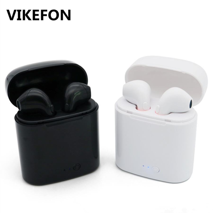 VIKEFON i7s TWS Mini Wireless Bluetooth Kopfhörer Stereo Ohrhörer Headset mit Lade Box Mic Für iPhone Xiaomi Samsung Handys